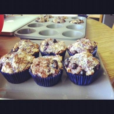 'Blown Away' Blueberry Muffins