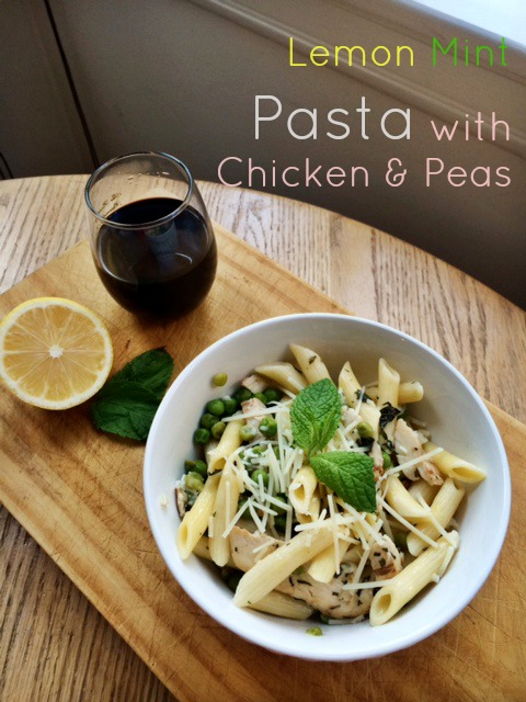 Fresh Summer Pasta with Lemon, Chicken and Peas