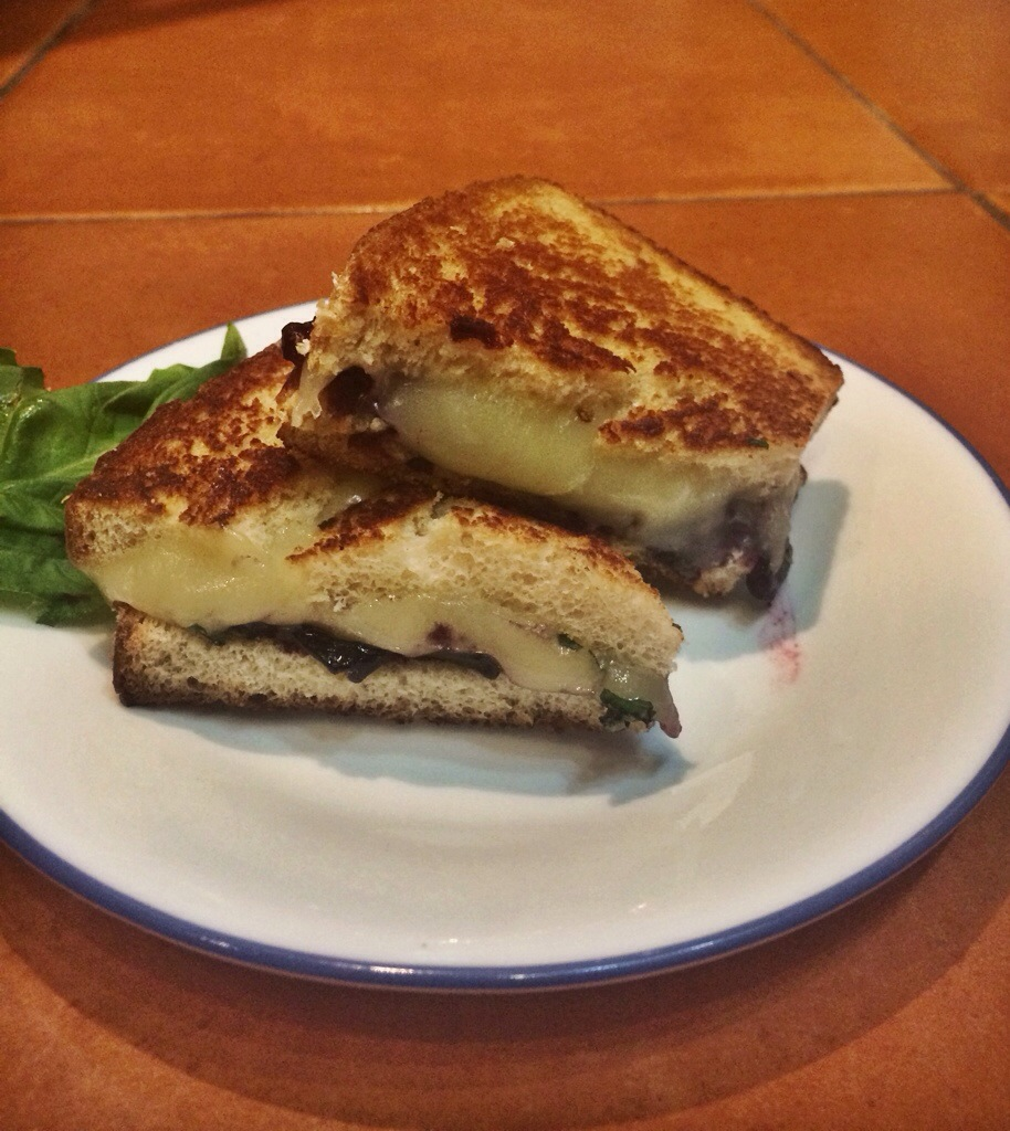 Blueberry Basil Grilled Cheese