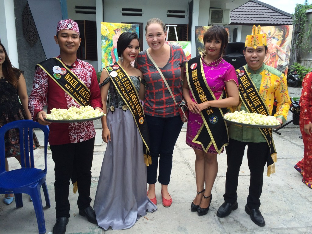 At an event with my student Keke, who is the 2016 Tourist Ambassador of Central Kalimatan (think like Miss Washington)