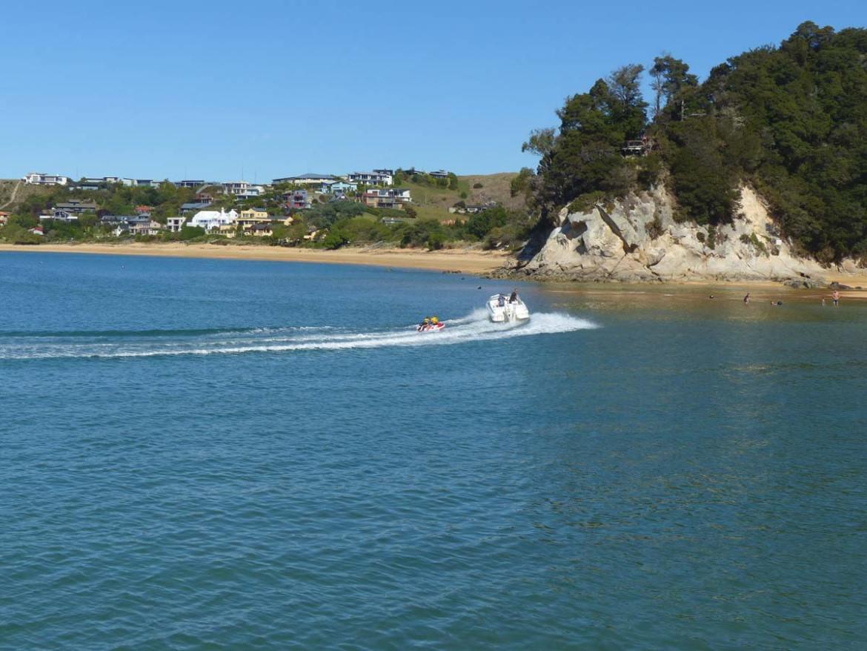 Neuseeland, Südinsel, Pazifik, Bott, Bananaboat, Meer
