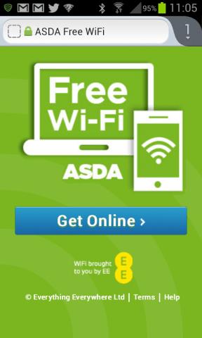 Free wifi at Asda