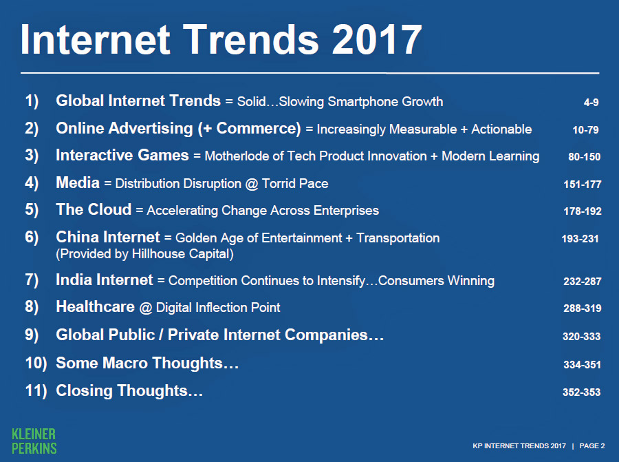 20 Highlights from Mary Meeker's Internet Trends 2017 report