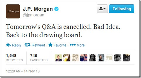 Tomorrow's Q&A is cancelled...