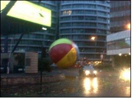 Giant beach ball on the loose...