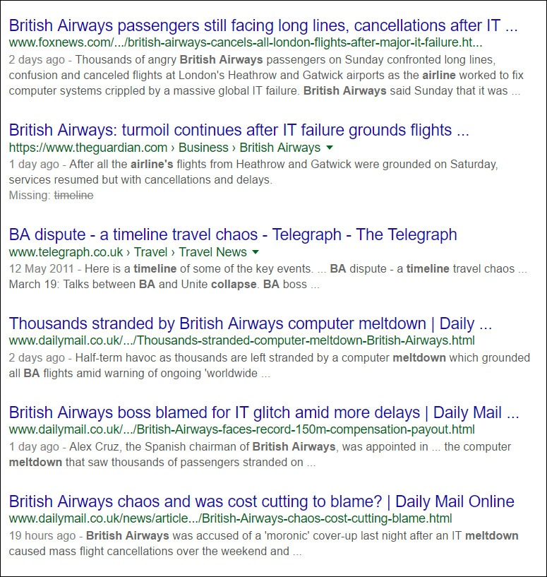 British Airways news headlines