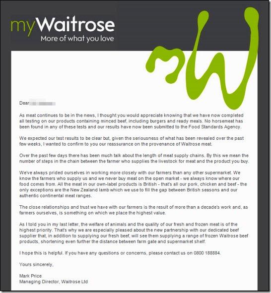 Waitrose email