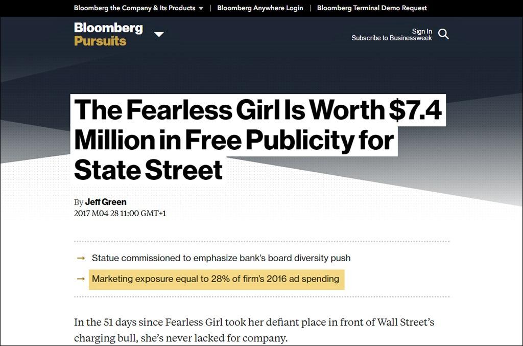 Fearless Girl AVE / Bloomberg Businessweek