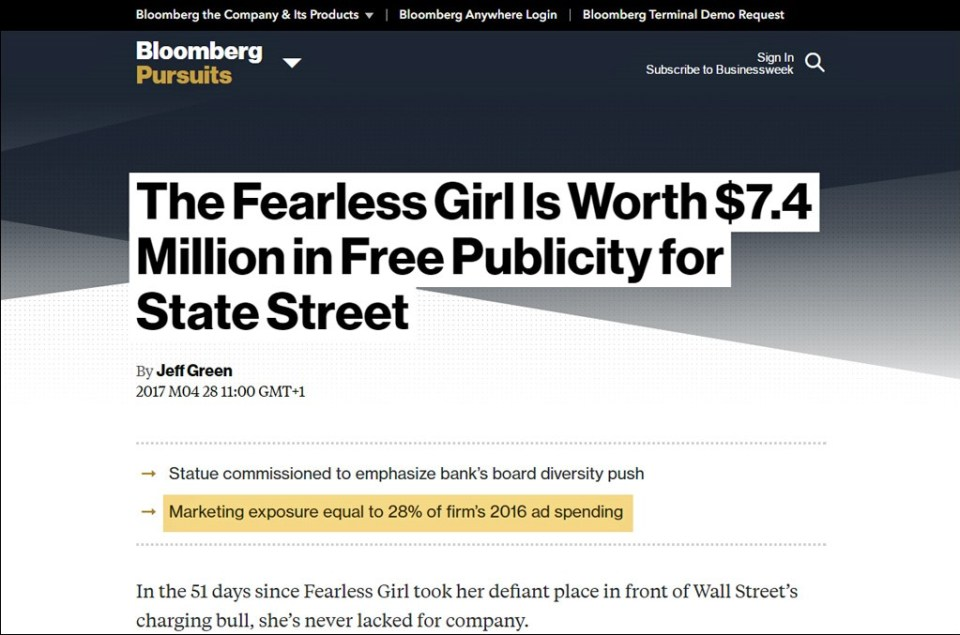 Fearless Girl AVE / Bloomberg Businessweek