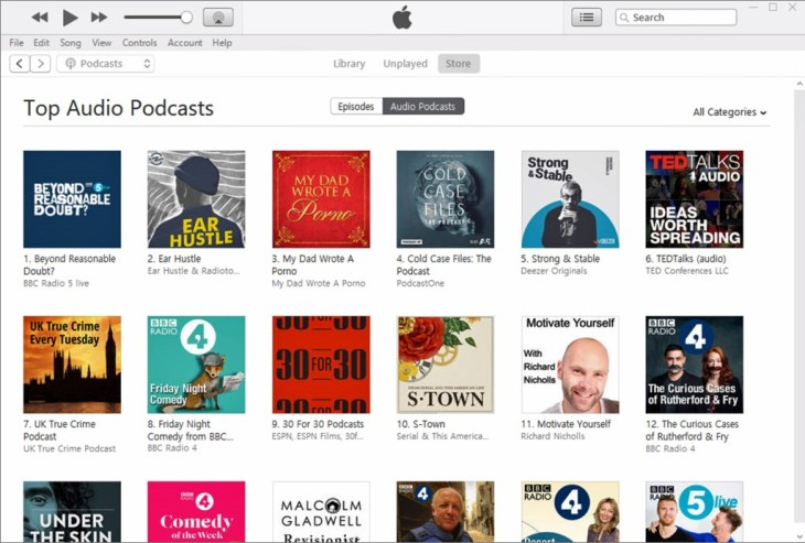 iTunes Podcast Directory