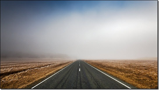 Misty road ahead