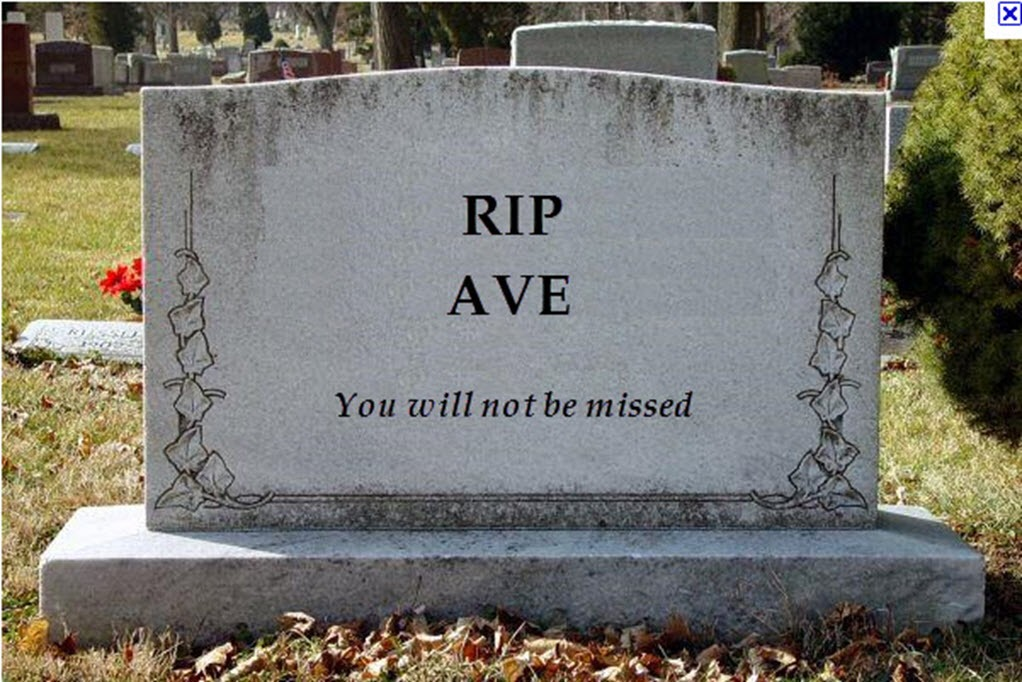 The end of AVE in PR?