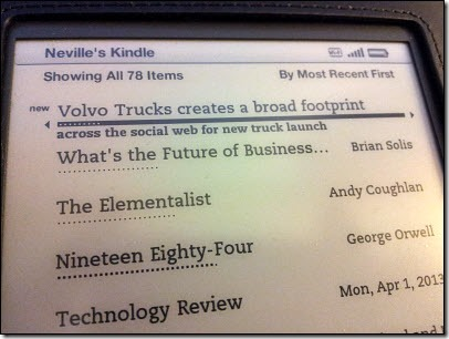 In your Kindle content list