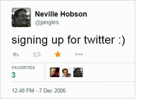 Signing up for Twitter