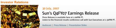 Sun investor relations