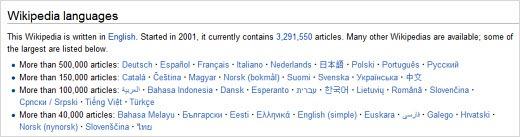 wikipedialanguages