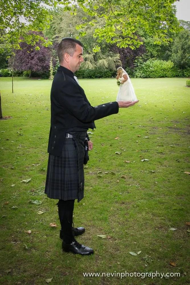 Scottish Bride & Groom at St Stephens Park