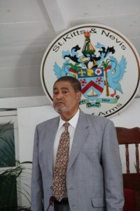 Deputy Governor General and Nevis' Top Civil Servant His Honour Eustace John, at the first sitting of the Nevis Island Assembly at Hamilton House in Charlestown on March 26, 2013