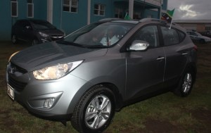 The 2013 Hyundai Tucson donated to the Dieppe Bay Station