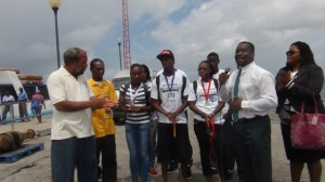 Nevis athletes and officials