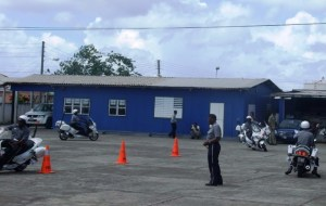 Officers display precision driving skills