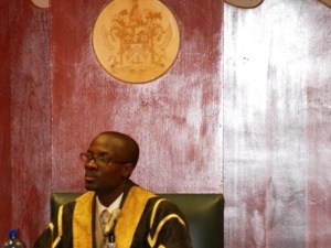 Speaker of the St. Kitts and Nevis National Assembly, the Hon. Curtis Martin