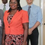 (L-R) Chief of Education at the United Nations Children's Fund (UNICEF) office based in Barbados Dr. Wycliffe Otieno, Education Officer with responsibility for Early Childhood Mrs. Florence Smithen and Regional Education Advisor for Latin America and the Caribbean Mr. Francisco Benavides
