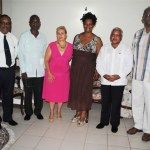 From left: Director of Communications, St. Kitts and Nevis Information Service, Mr Grell Browne; Senior Joaquin Lacke Portuondo; Mrs Teresa Toranzo; President of the Cuba St. Kitts Nevis Friendship Association Mrs Telca Daniel Wallace; Ambassador Ruiz; and Commander of the St. Kitts Nevis Defence Force, Lt Col Patrick Wallace.
