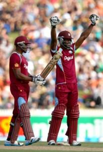 Kirk Edwards celebrated his maiden ODI hundred