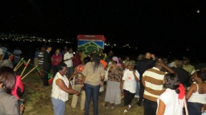 Residents view the concept of the New Road Family Park