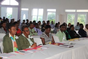 A section of participants at the Nevis Financial Services Regulation and Supervision Department's 2014 AML/CFT Seminar and Training workshop at the Occasions Entertainment Arcade on March 03, 2014.
