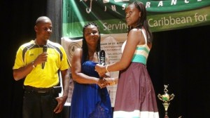 Presentation of plaque to family
