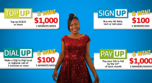 On July 1, one lucky Digicel  customer will win $10,000 & share $5000 extra with loved ones