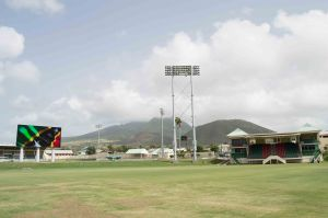 Warner park Cricket Stadium with recently built 3700 lux lights and jumbotron video scoreboard