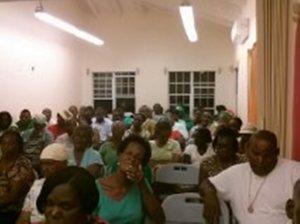 Audience at the Barnes Ghaut Community Center