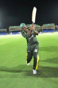 Prime Minister Douglas making a stroke Tuesday night.