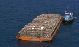 Barge with Garbage   (File photo)