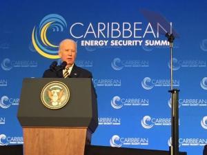 US Vice President Joe Biden addressing Summit opening