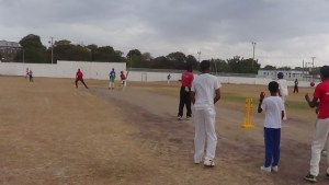 Under 15 players at practice