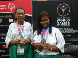 Connie and Berenice showing off their medals