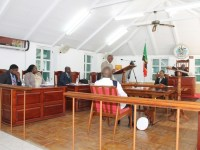 Premier of Nevis Hon. Vance Amory at a sitting of the Nevis Island Assembly