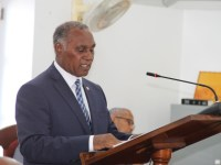Premier of Nevis Hon. Vance Amory at the Nevis Island Assembly on November 30, 2016