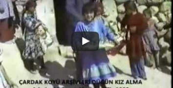 Nevşehir Çardak Köyü Düğün Kız Alma