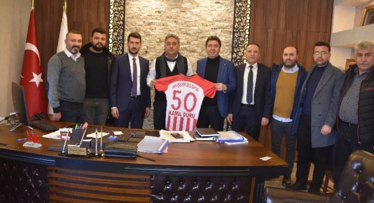 Nevşehir Belediyespor yöneticileri Duru'yu ziyaret etti