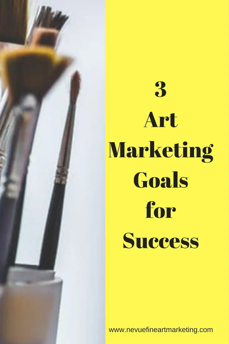 Are you trying to market your artwork but find yourself spinning like a top? In this post, I will share with you 3 art marketing goals to help you succeed.