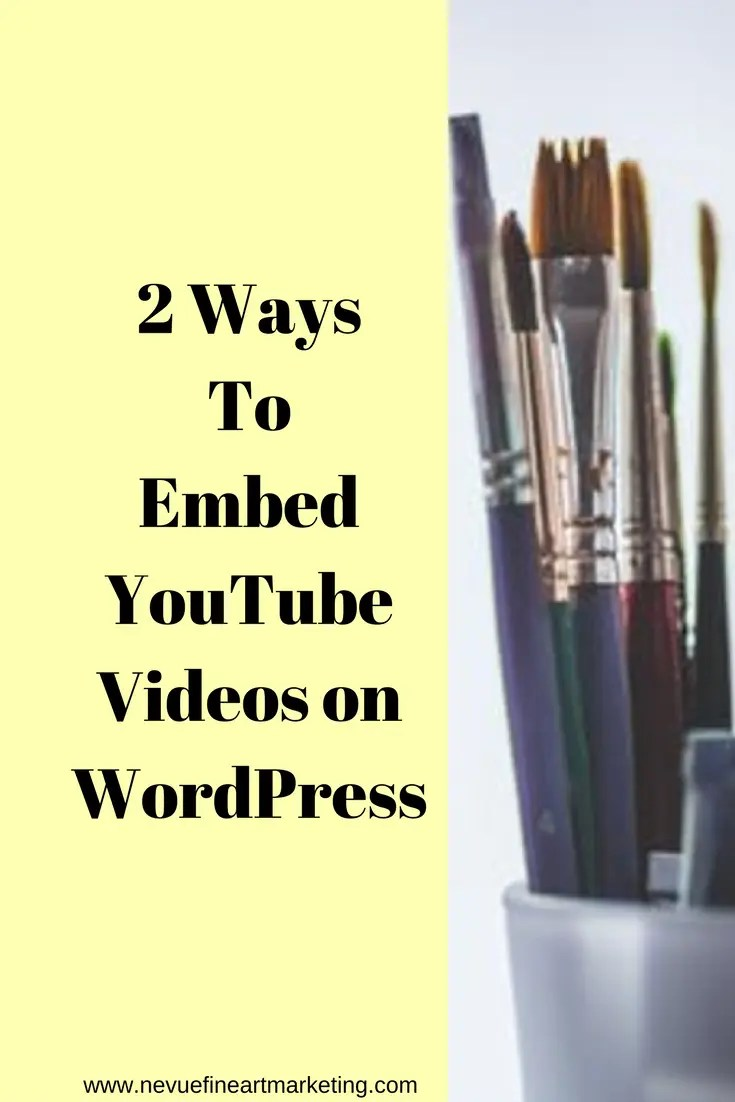 Are you ready to take your blog to the next level with videos? Adding a video to your artist blog will reach an audience that prefers video content over just reading a text post. In this post, you will discover how easy it is to embed YouTube videos on WordPress.