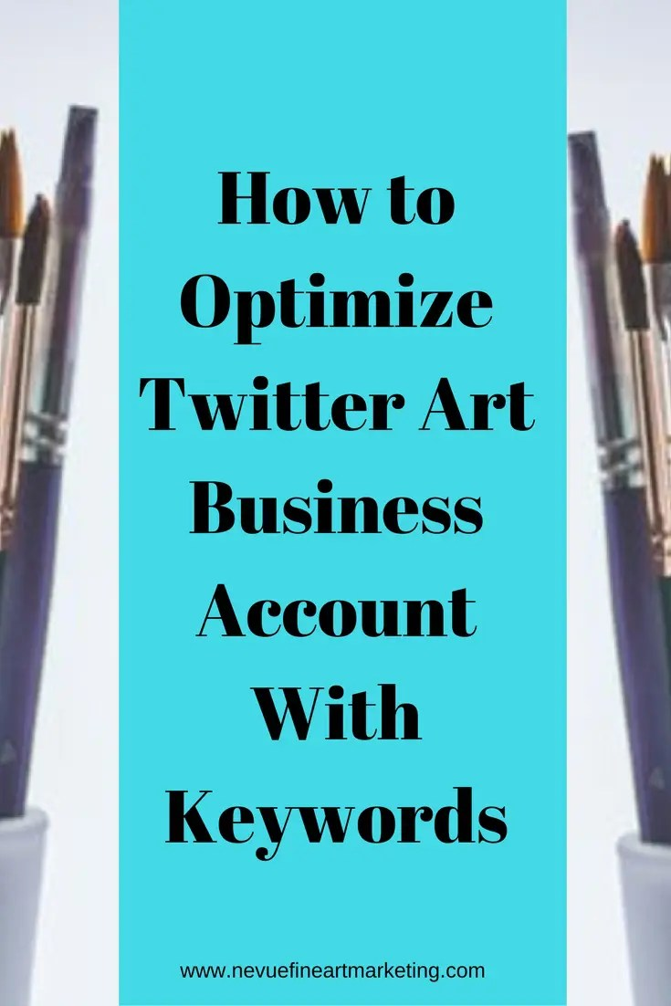 Are you struggling on Twitter?Did you know that keywords play an important role for people finding your tweets? In thispost, you will discover how to optimize your Twitter art business account with keywords.