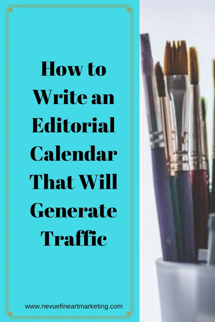 Have you been making goals for your art business for the New Year? Now is the time to start thinking about creating content for the upcoming year. In this post, you will discover that an editorial calendar will help you to generate more traffic to your artist blog and save you time so you can spend added time in the studio.