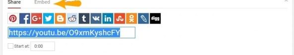 embed YouTube video to WordPress