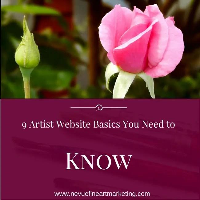 9 Artist Website Basics You Need to